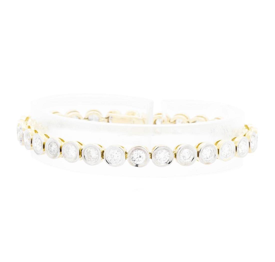 14KT White Gold Ladies 7.25 ctw Diamond Bracelet