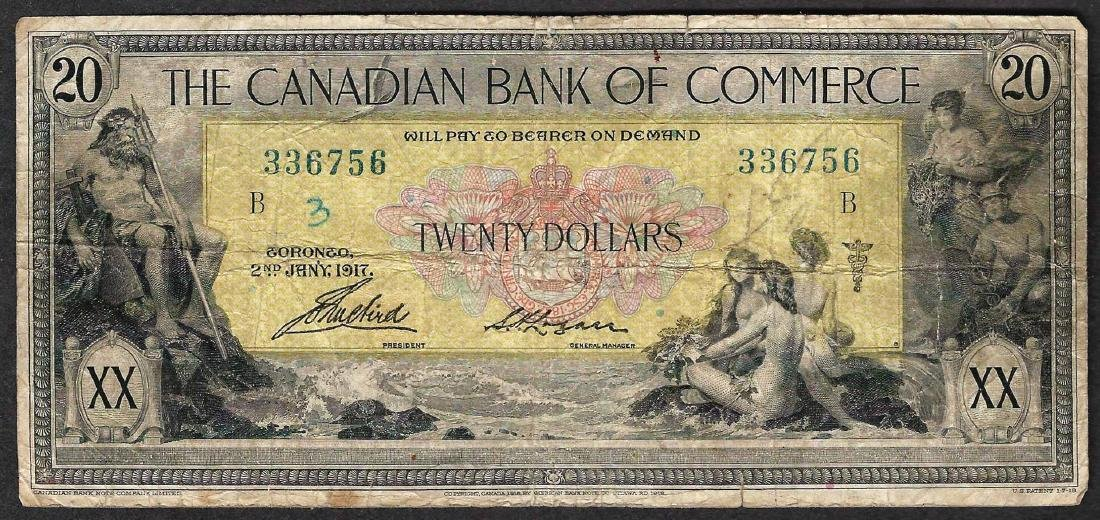 1917 The Canadian Bank of Commerce Note