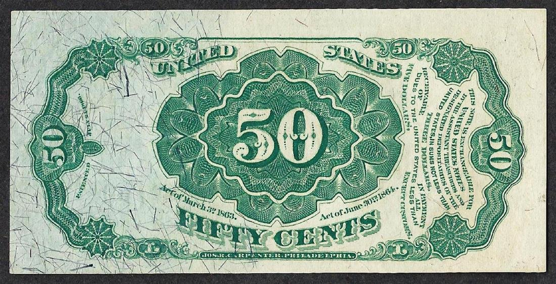 1875 Fifty Cents Fifth Issue Fractional Currency Note - 2