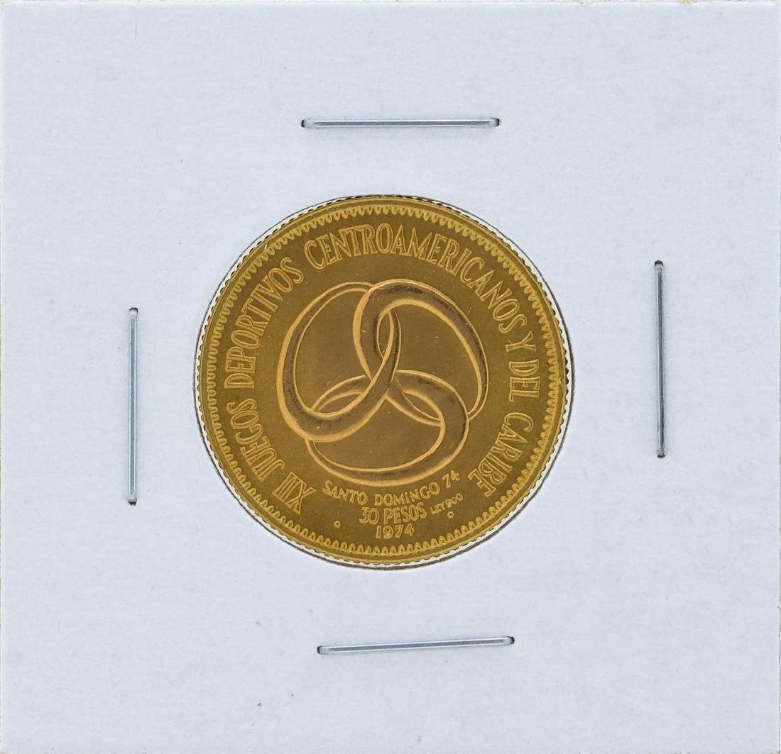 1974 Dominican Republic 30 Pesos Gold Coin
