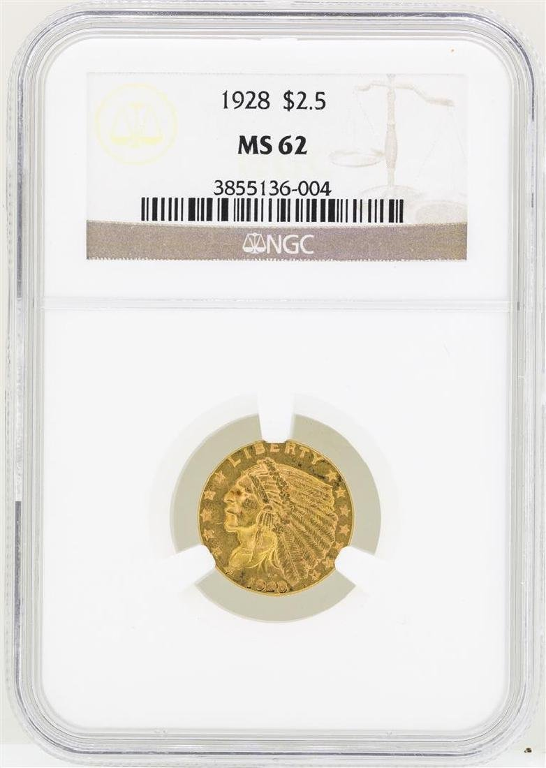1928 $2 1/2 Indian Head Quarter Eagle Gold Coin NGC