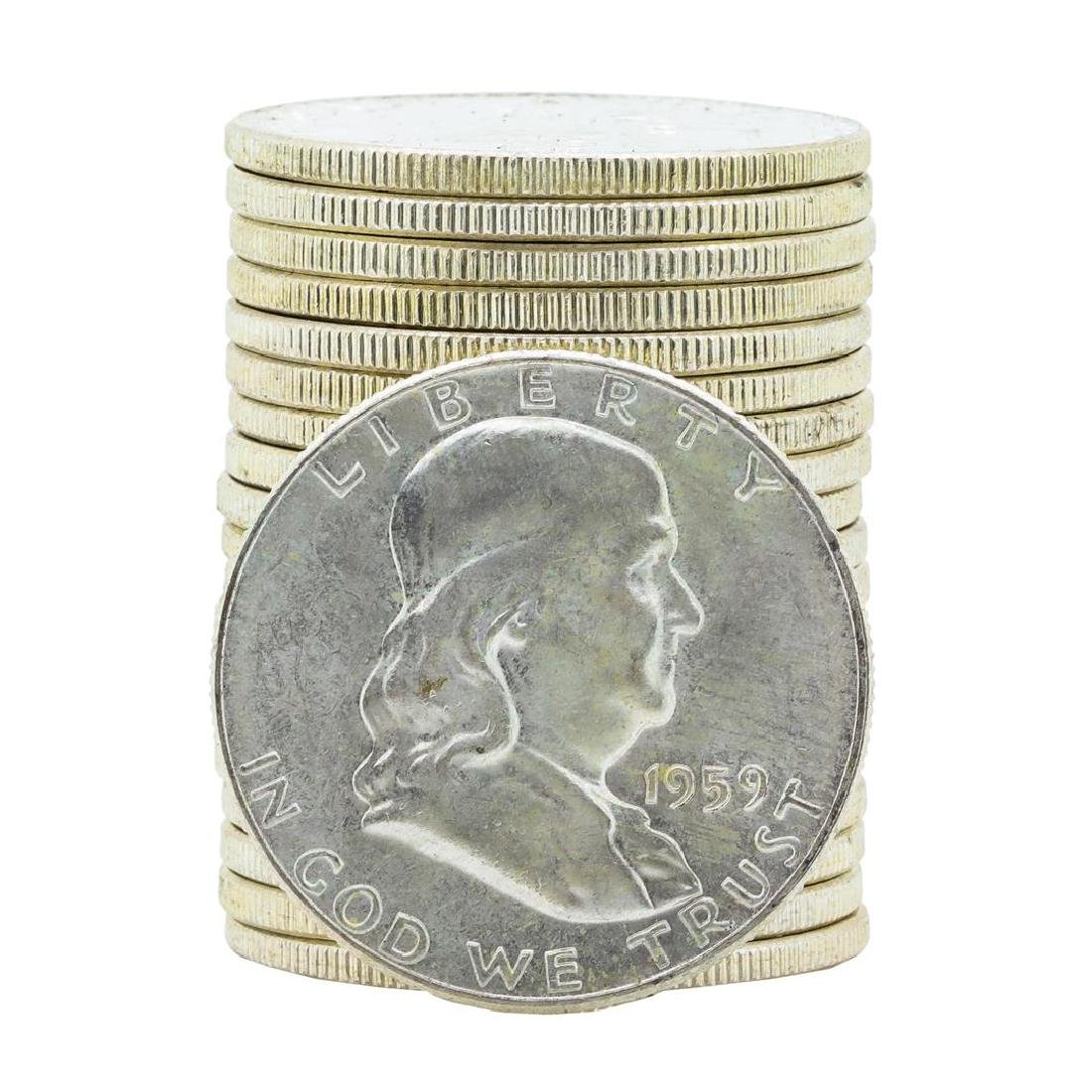 Roll of (20) 1959-P Brilliant Uncirculated Franklin