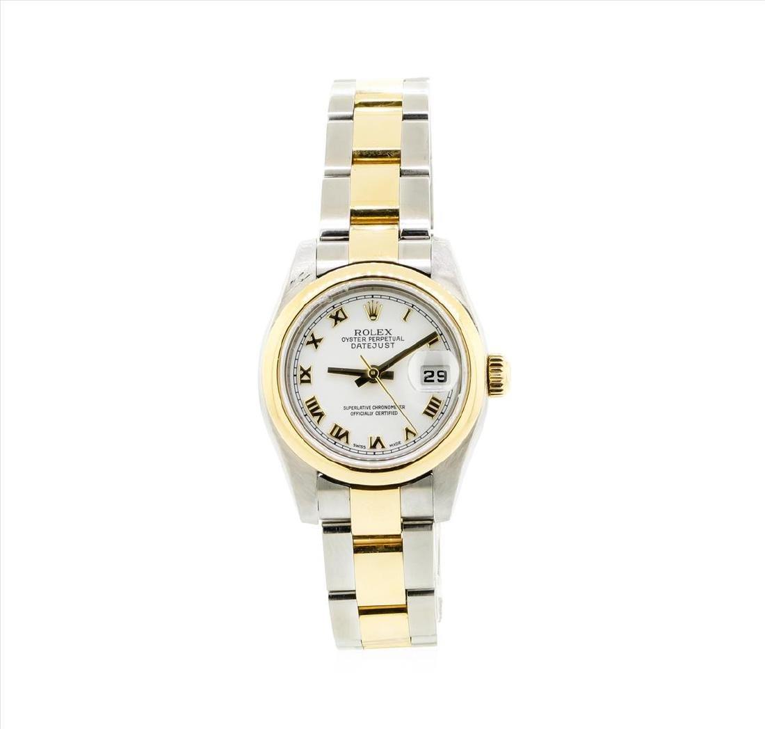 Rolex Ladies 18KT Two Tone Gold Datejust Wristwatch