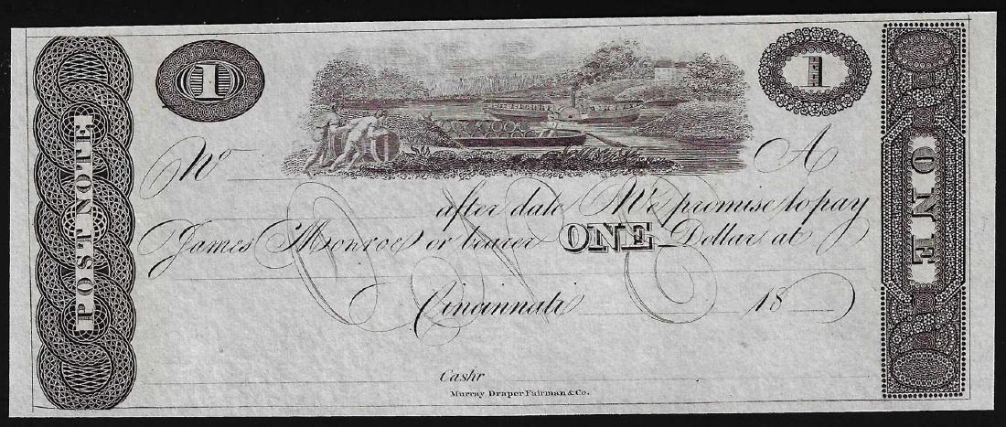 1800's $1 Cincinnati Post Note