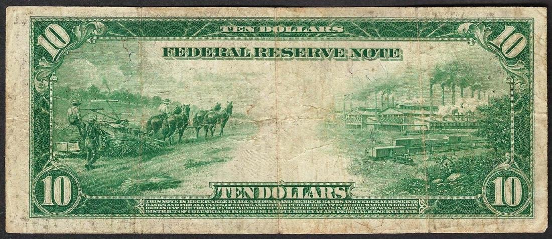 1914 $10 Federal Reserve Note - 2
