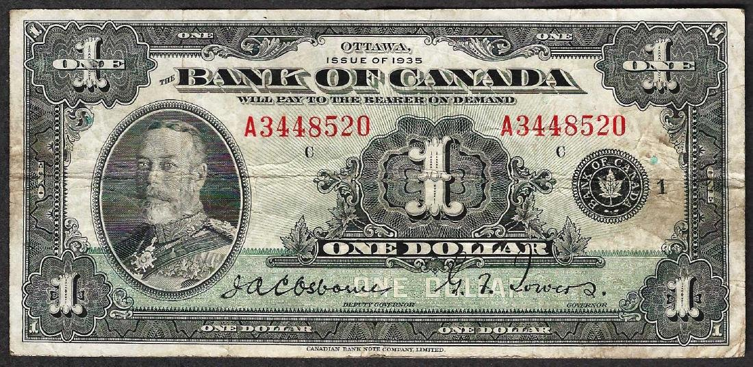 1935 $1 Bank of Canada Note