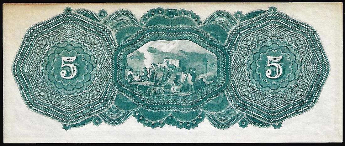 1870's $5 E.M. Thompson Obsolete Note - 2