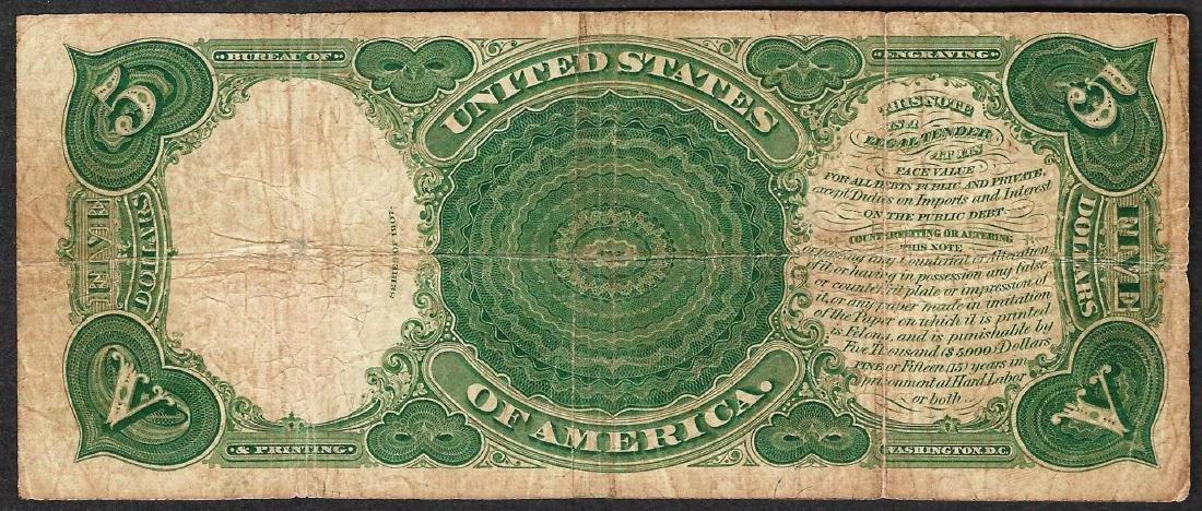 1907 $5 Woodchopper Legal Tender Note - 2