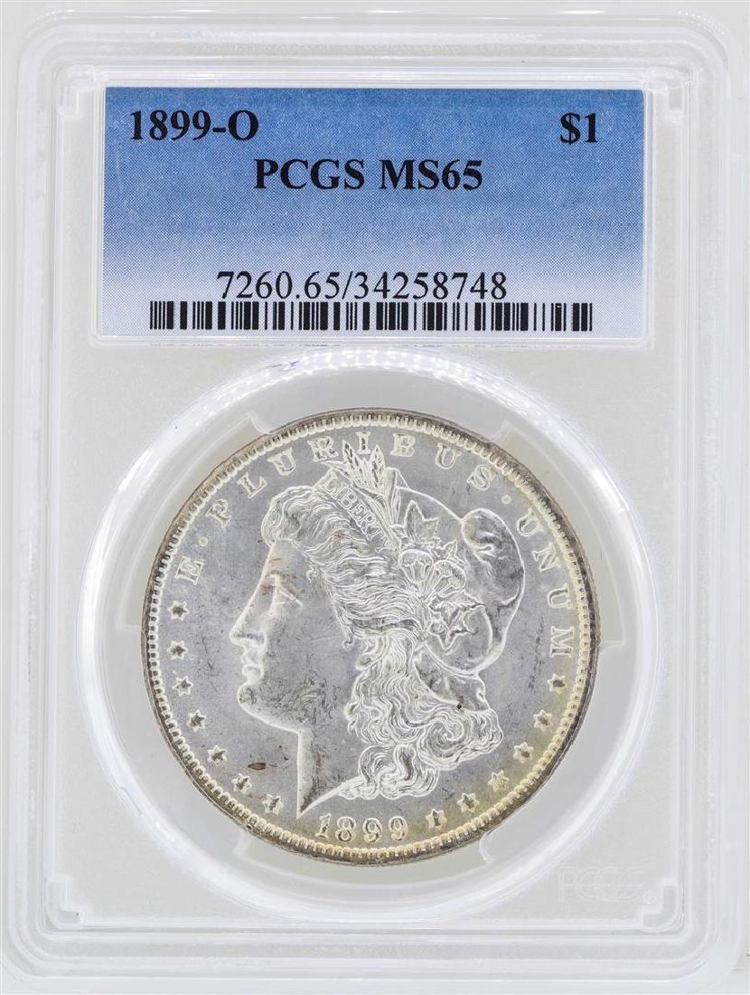 1899-O $1 Morgan Silver Dollar Coin PCGS MS65