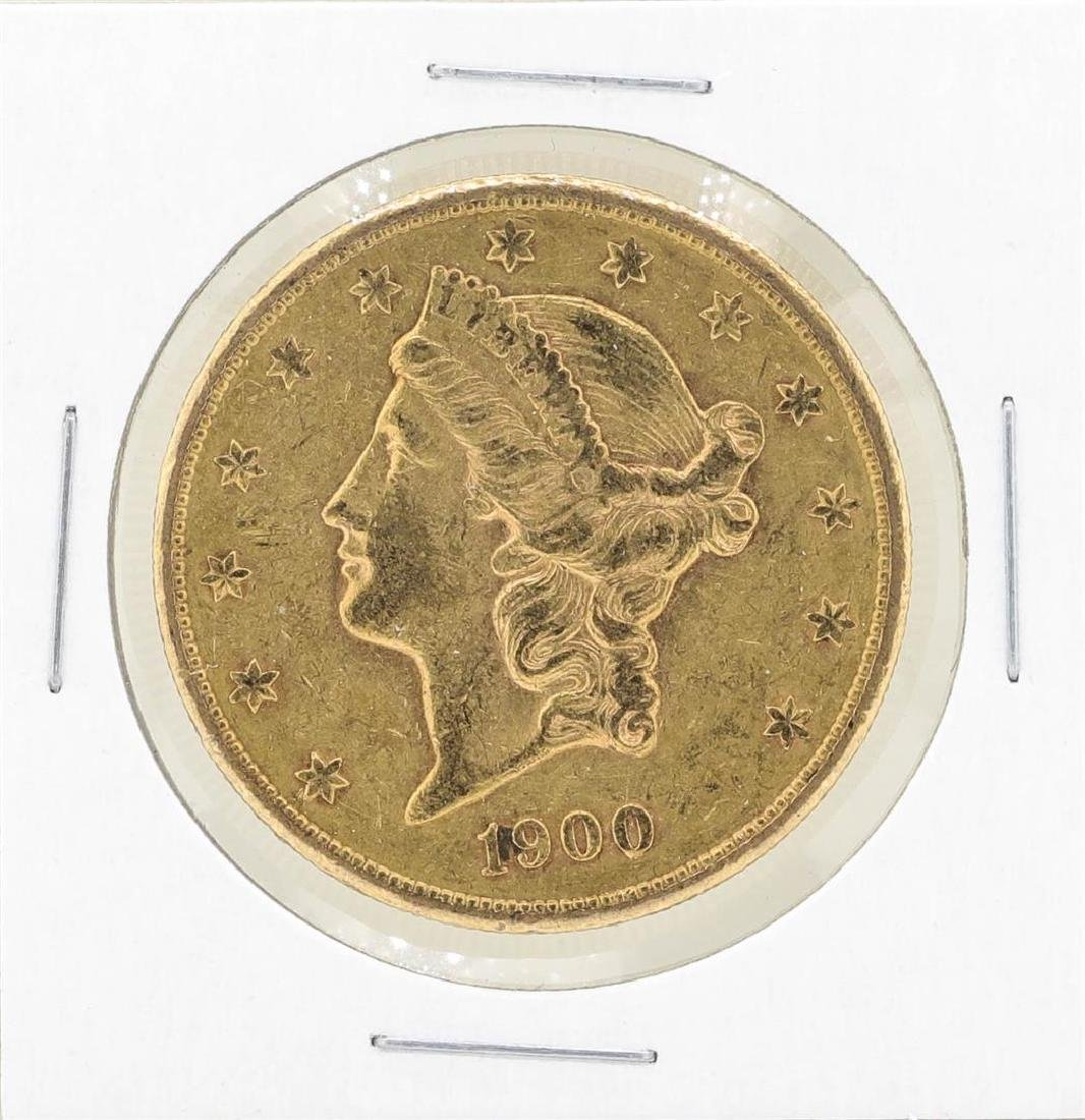 1900-S $20 Liberty Head Double Eagle Gold Coin