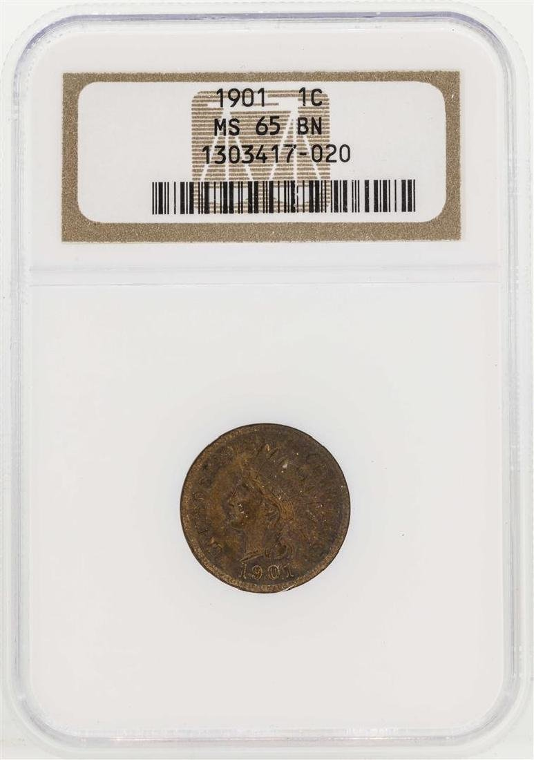 1901 Indian Head Penny NGC MS65BN