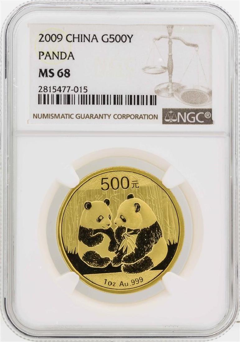 2009 China 50 Yuan Panda Gold Coin NGC MS68