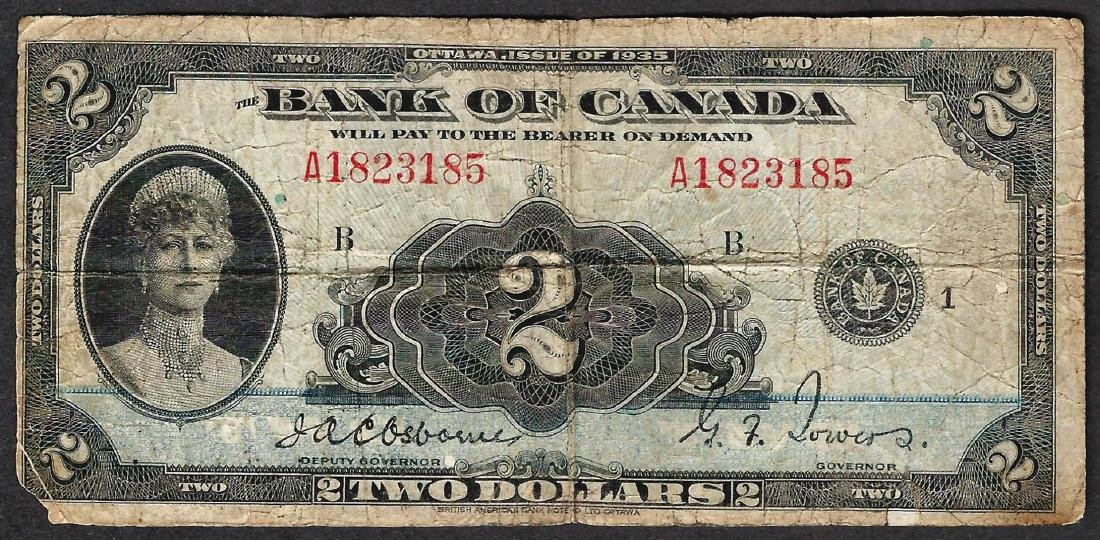 1935 $2 Bank of Canada Note