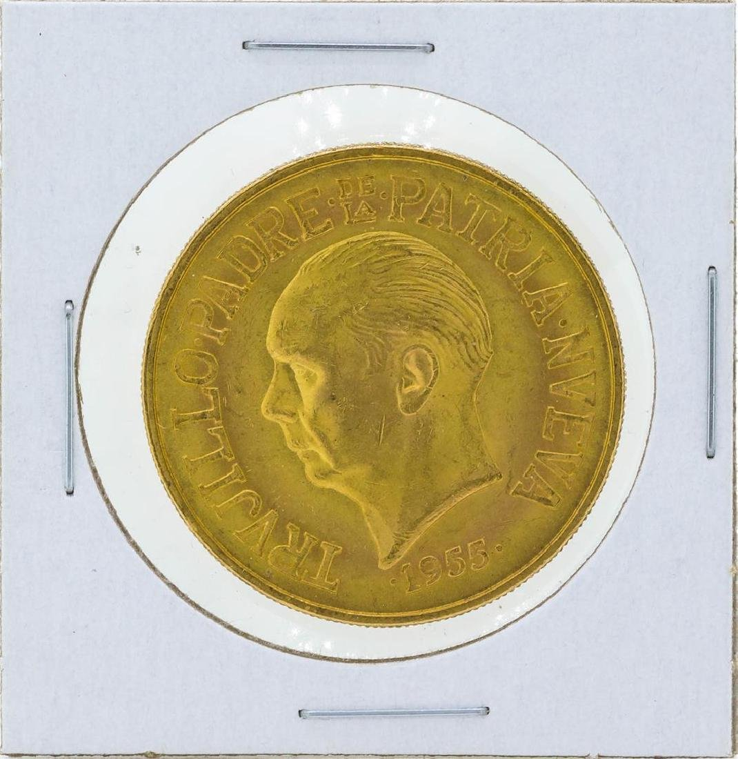 1955 Dominican Republic 30 Pesos Gold Coin