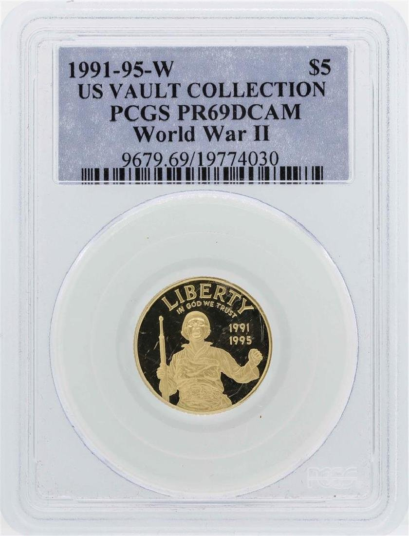 1991-95-W $5 US Vault Collection World War II Gold Coin