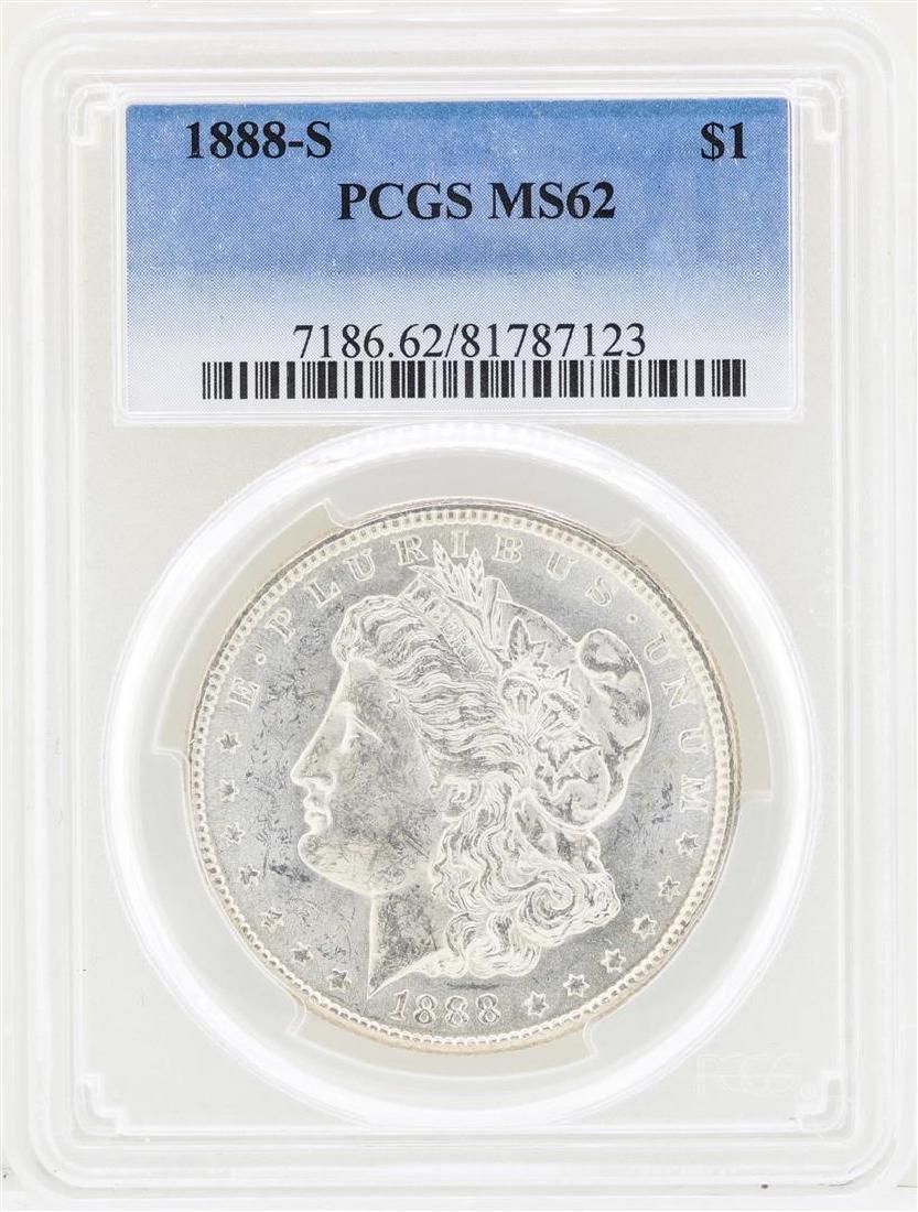 1888-S $1 Morgan Silver Dollar Coin PCGS MS62