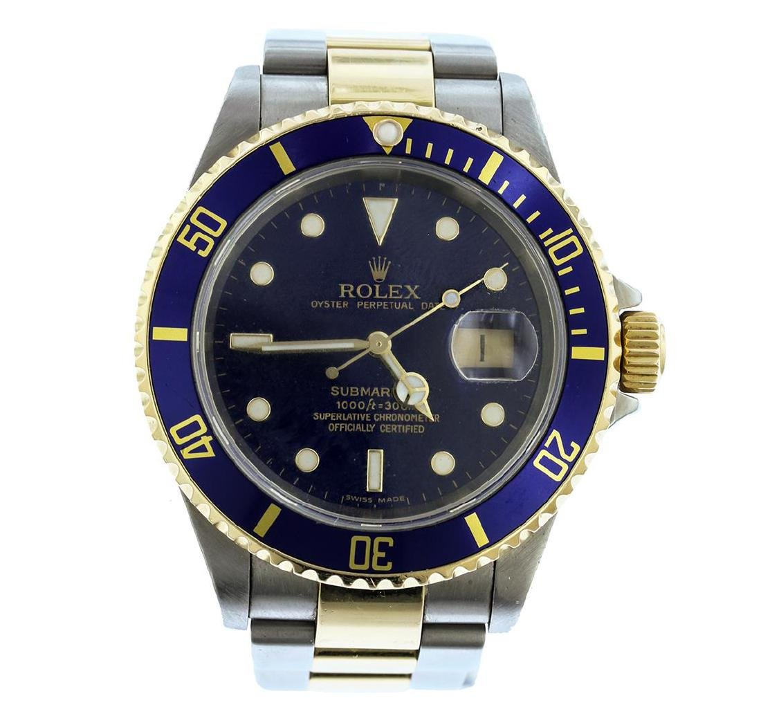 Mens Two-Tone Rolex Submariner Watch
