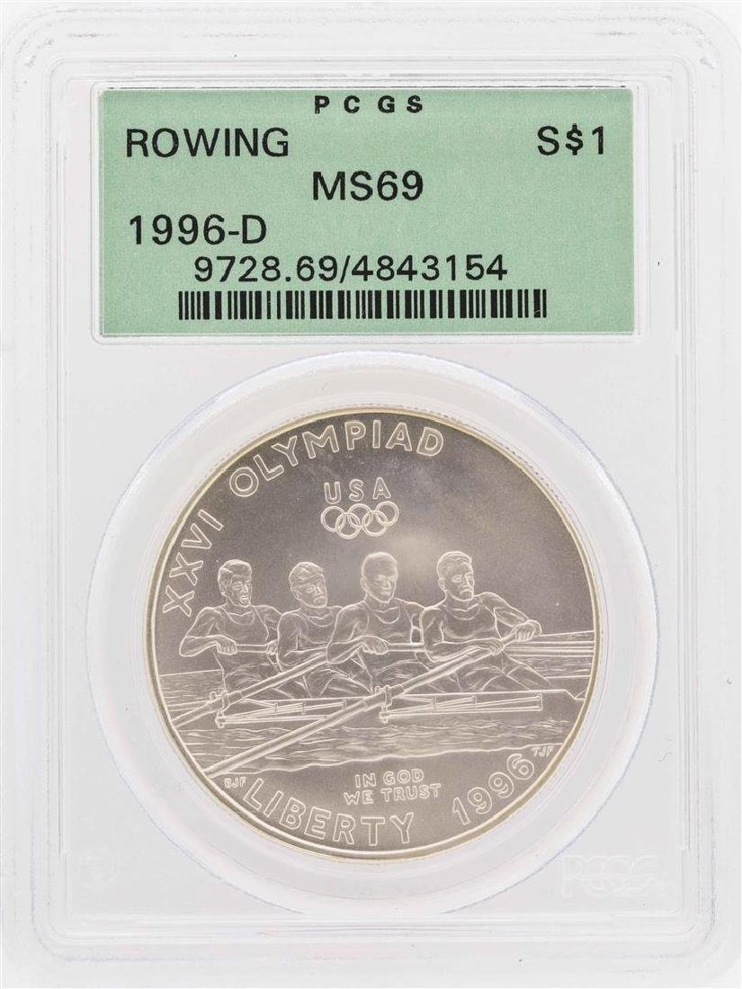 1996-D $1 Rowing Olympic Commemorative Silver Dollar