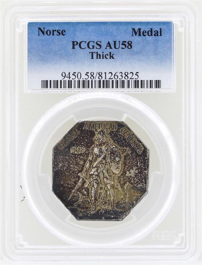 1925 Norse American Centennial Silver Medal Thick PCGS