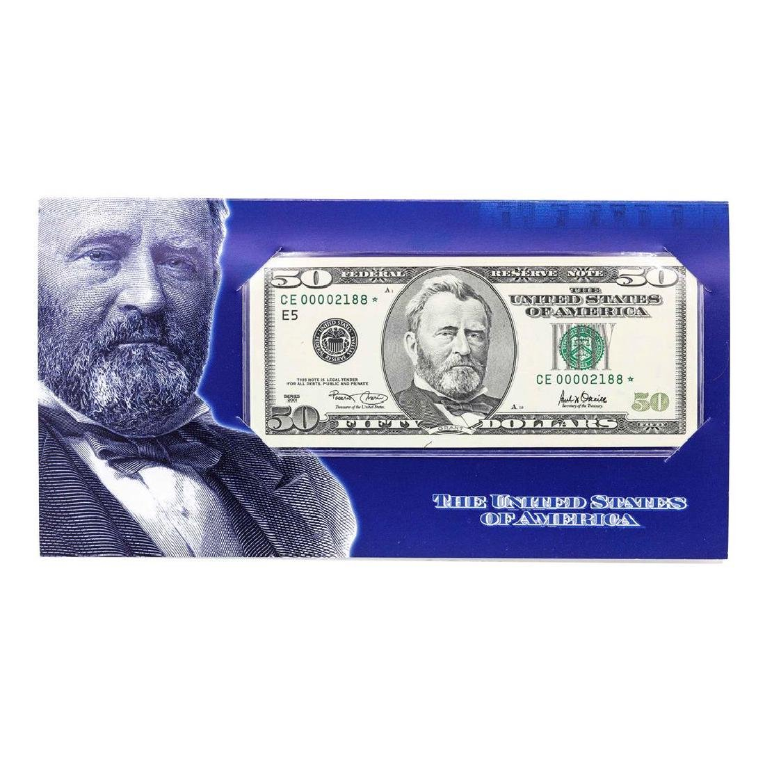 2001A $50 Federal Reserve STAR Note LOW SERIAL Number