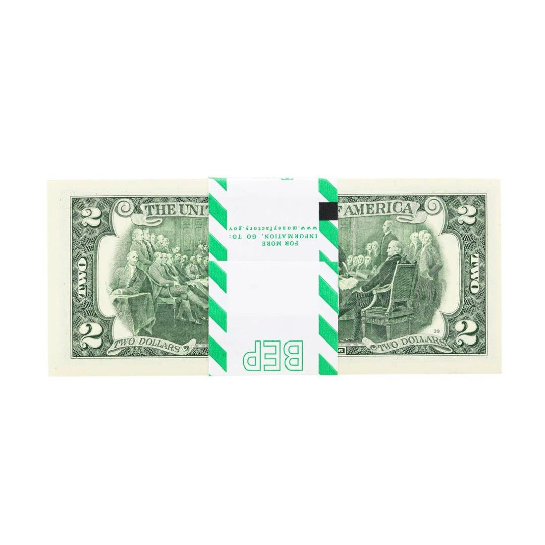 Pack of (100) 2013 $2 Federal Reserve STAR Notes - 2