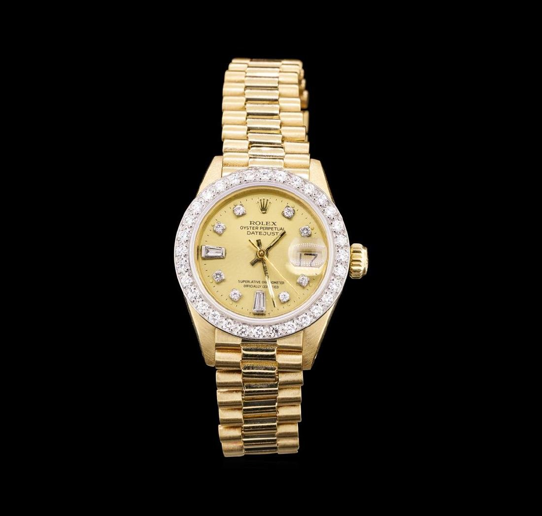 Ladies 18KT Yellow Gold Rolex Datejust Watch with