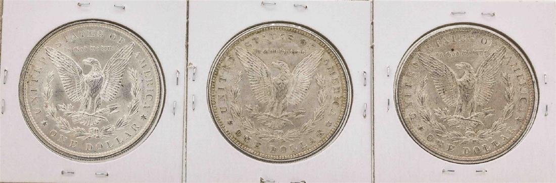 Lot of (3) Assorted Date $1 Morgan Silver Dollar Coins - 2
