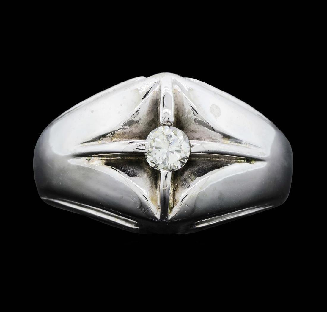 14KT White Gold Men's 0.25 ctw Diamond Ring