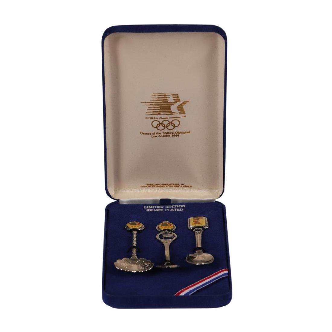 Lot of (3) 1984 Limited Edition Silver Plated Olympic