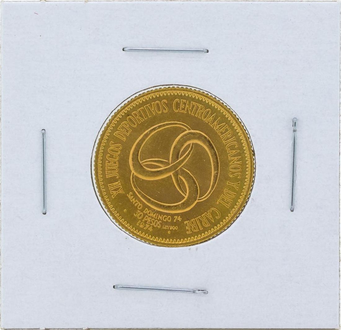 1974 Dominican Republic 30 Pesos Gold Coin