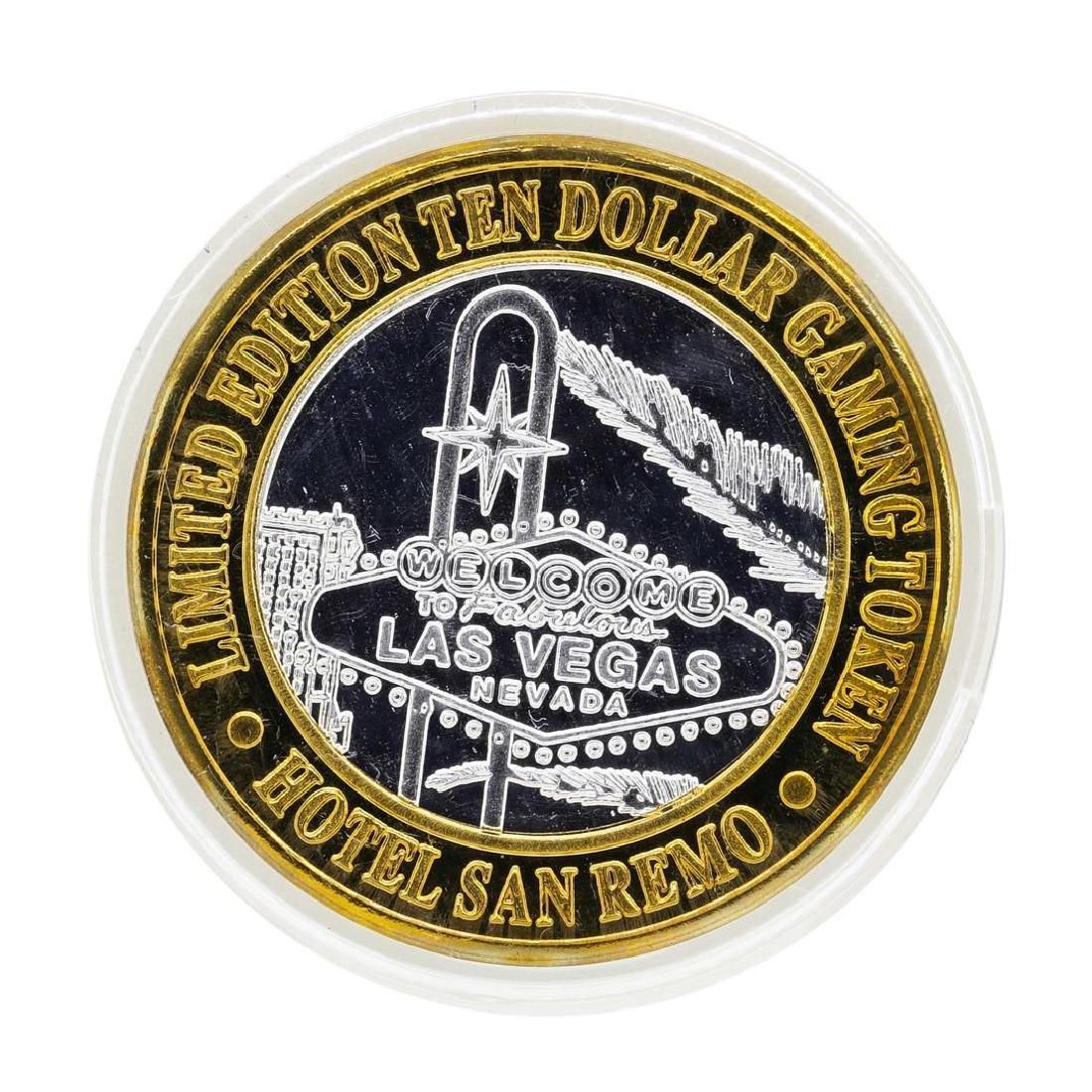 .999 Silver Hotel San Remo Las Vegas, Nevada $10 Casino