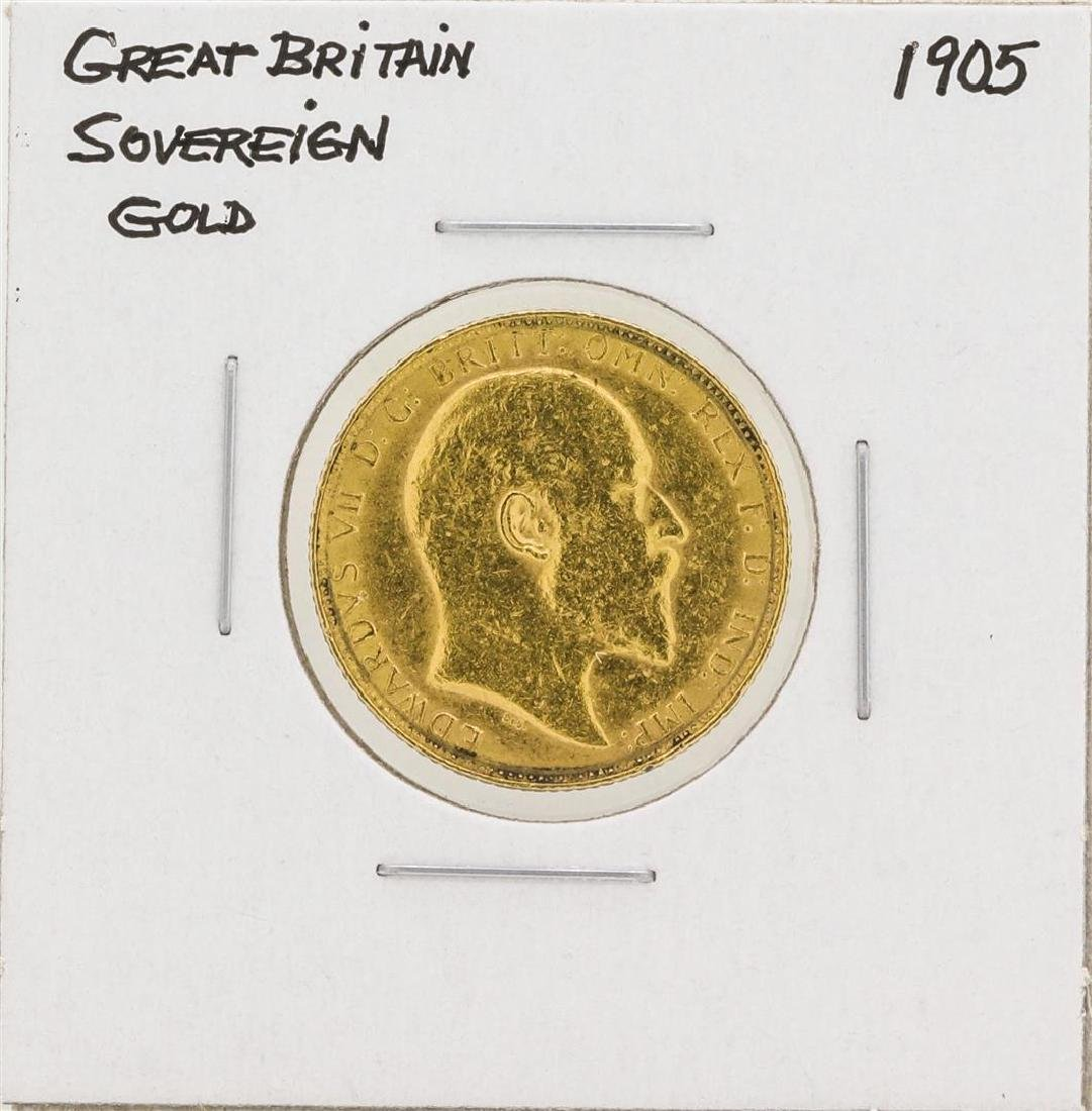 1905 Great Britain Sovereign Gold Coin