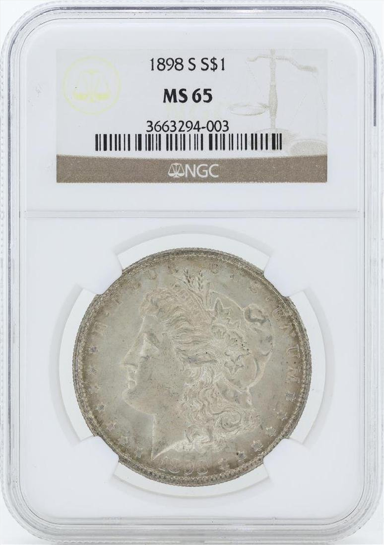 1898-S $1 Morgan Silver Dollar Coin NGC MS65