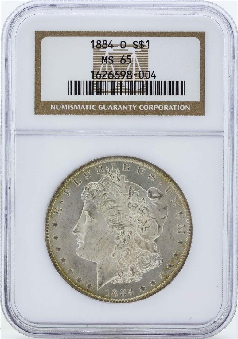 1884-O $1 Morgan Silver Dollar Coin NGC MS65