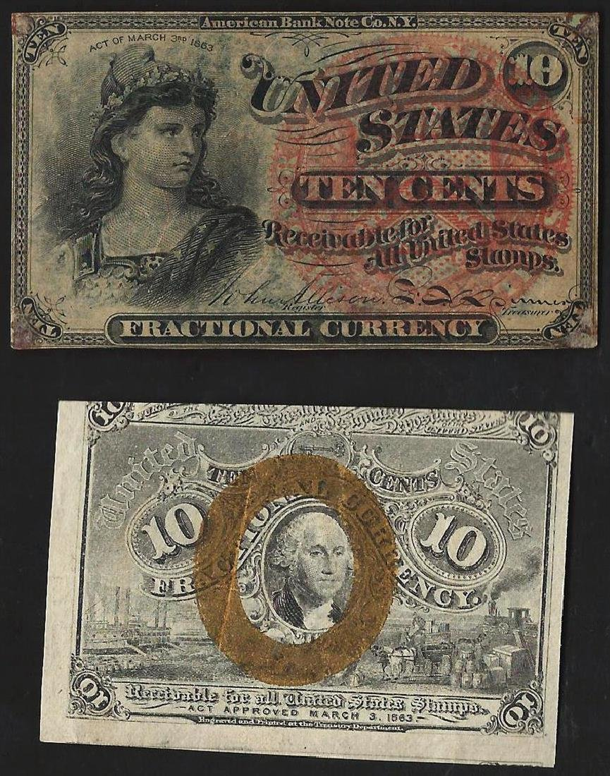 Lot of (2) Ten Cent Fractional Currency Notes