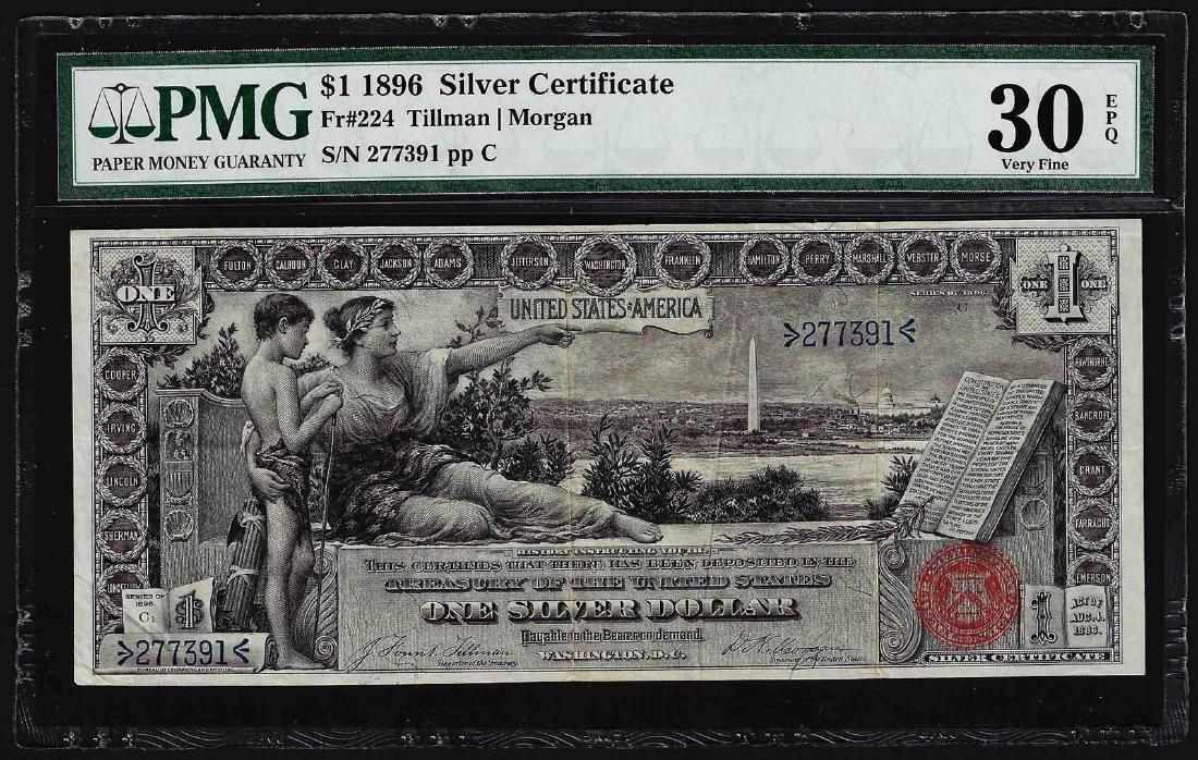 1896 $1 Silver Certificate Note Fr.224 PMG Very Fine