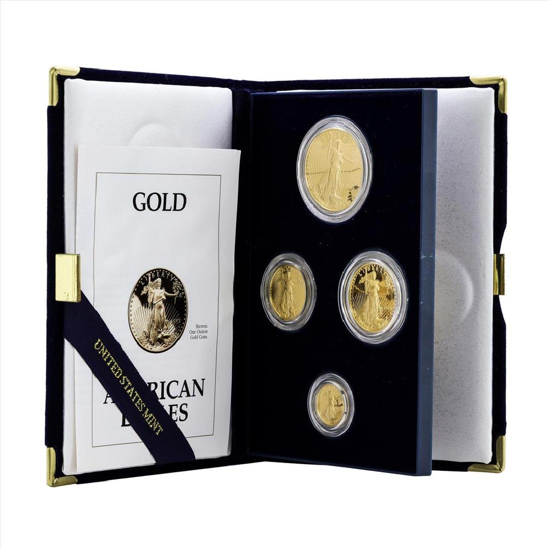1993 (4) Coin American Gold Eagle Proof Coin Set with