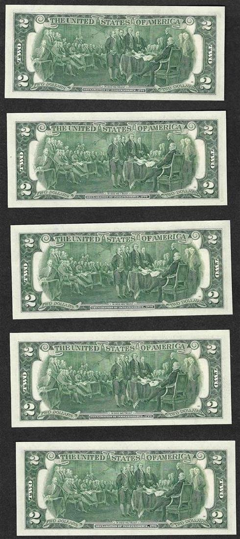Lot of (5) 1976 $2 Federal Reserve Notes Inauguration - 2