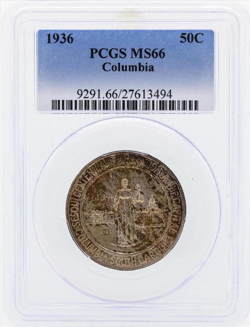 1936 Columbia Commemorative Half Dollar Coin PCGS MS66