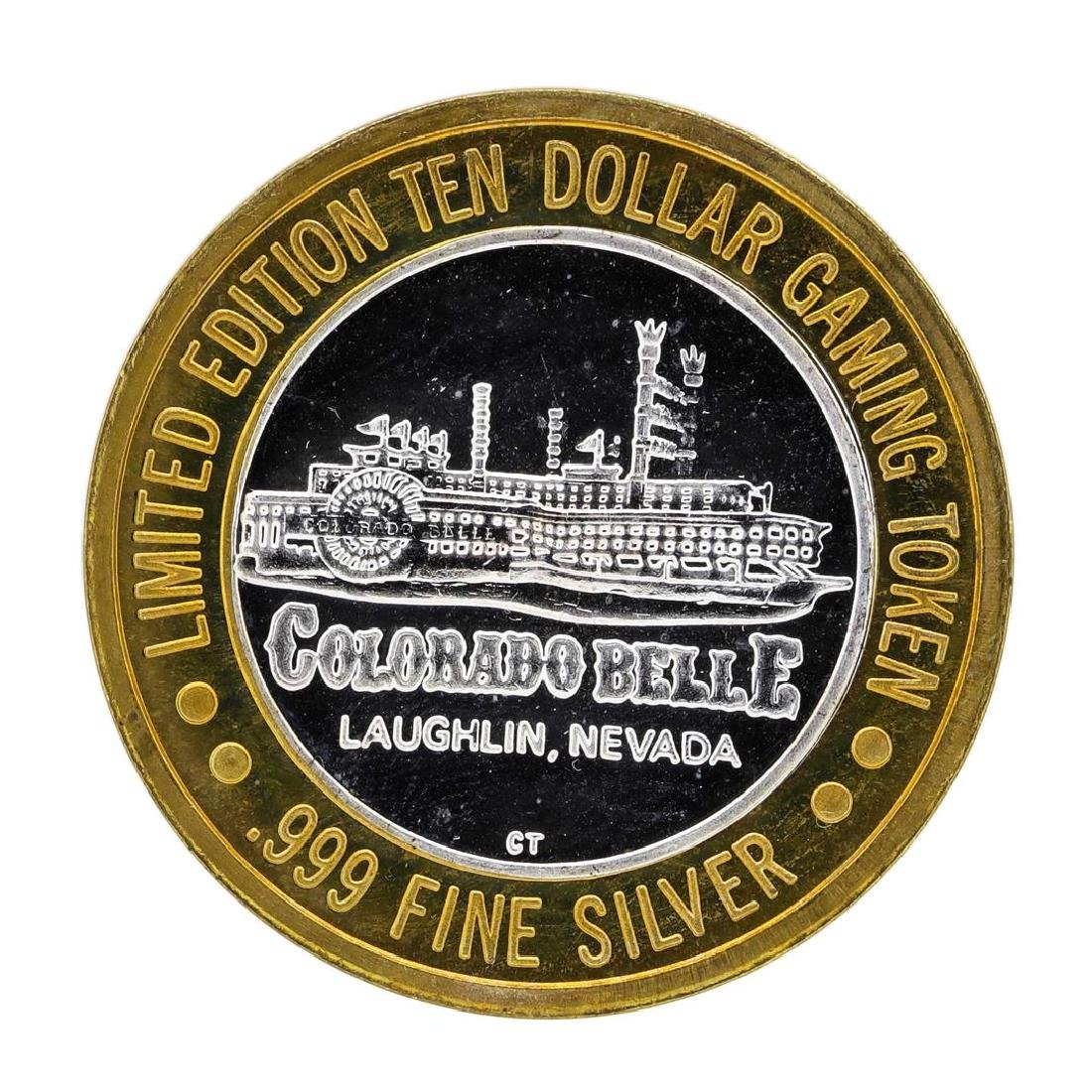 .999 Silver Colorado Belle Laughlin, Nevada $10 Casino
