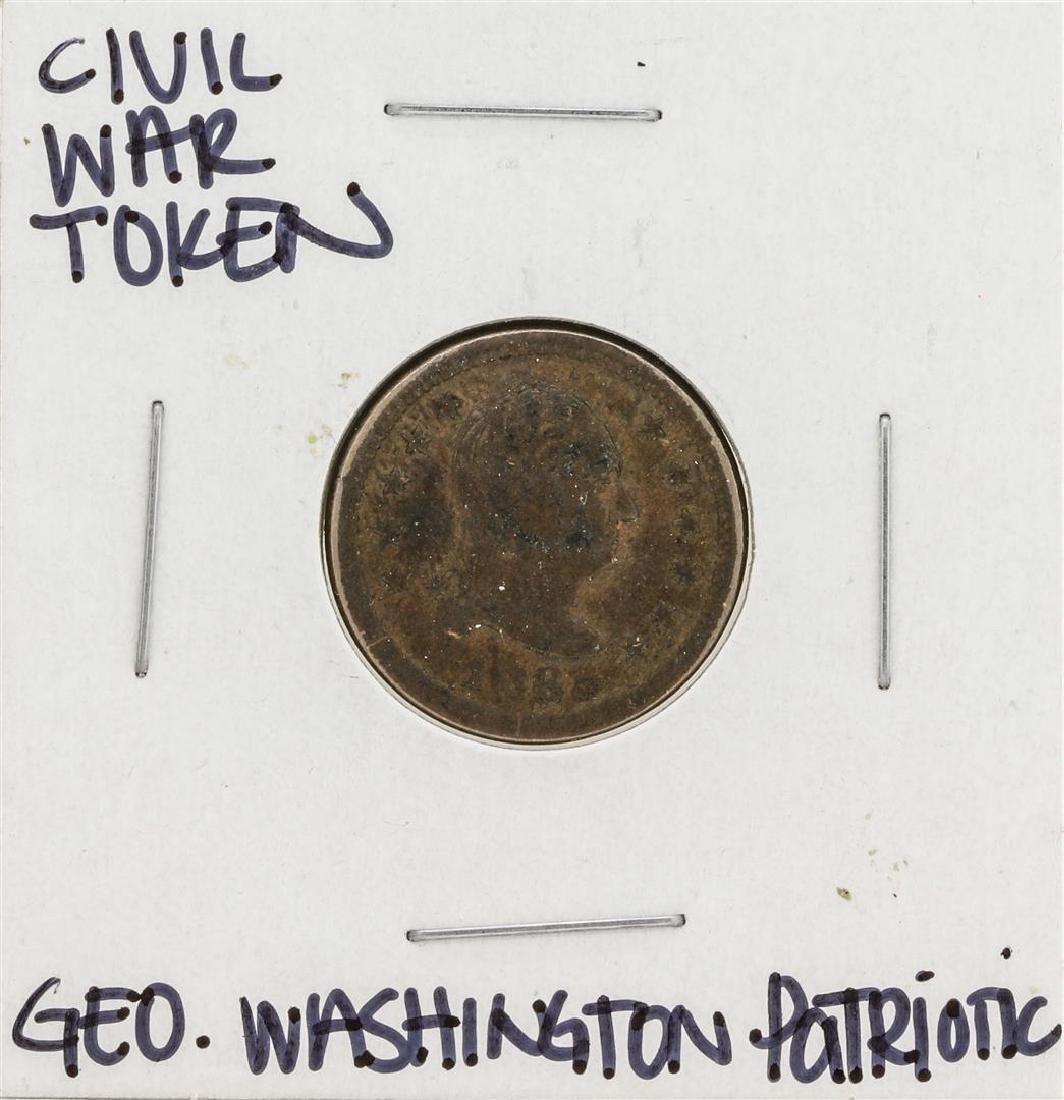 1863 Civil War Patriotic Token George Washington New