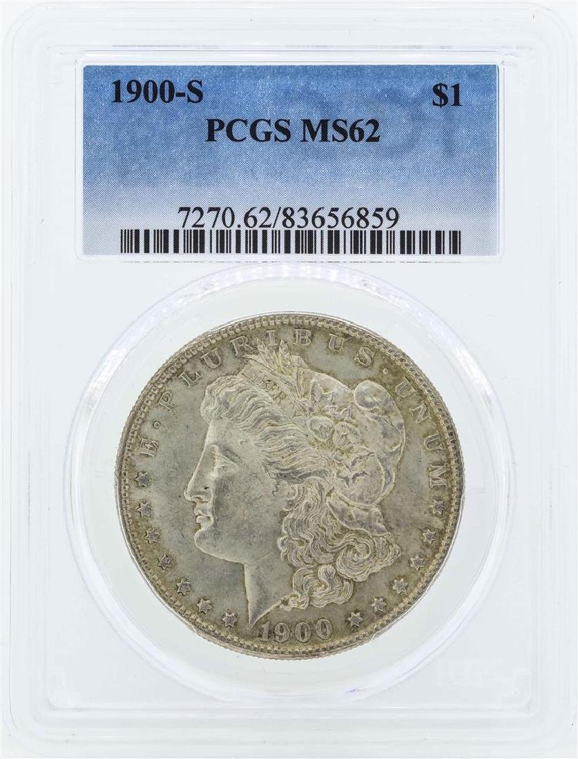 1900-S $1 Morgan Silver Dollar Coin PCGS MS62