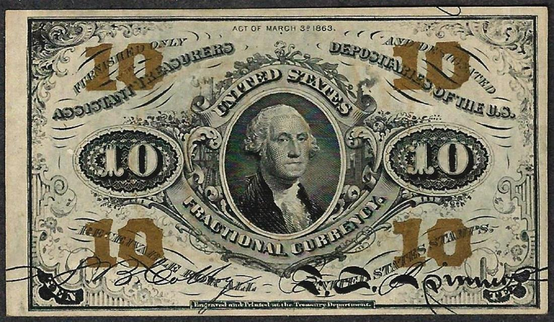 March 3, 1863 10 Cent Second Issue Fractional Note