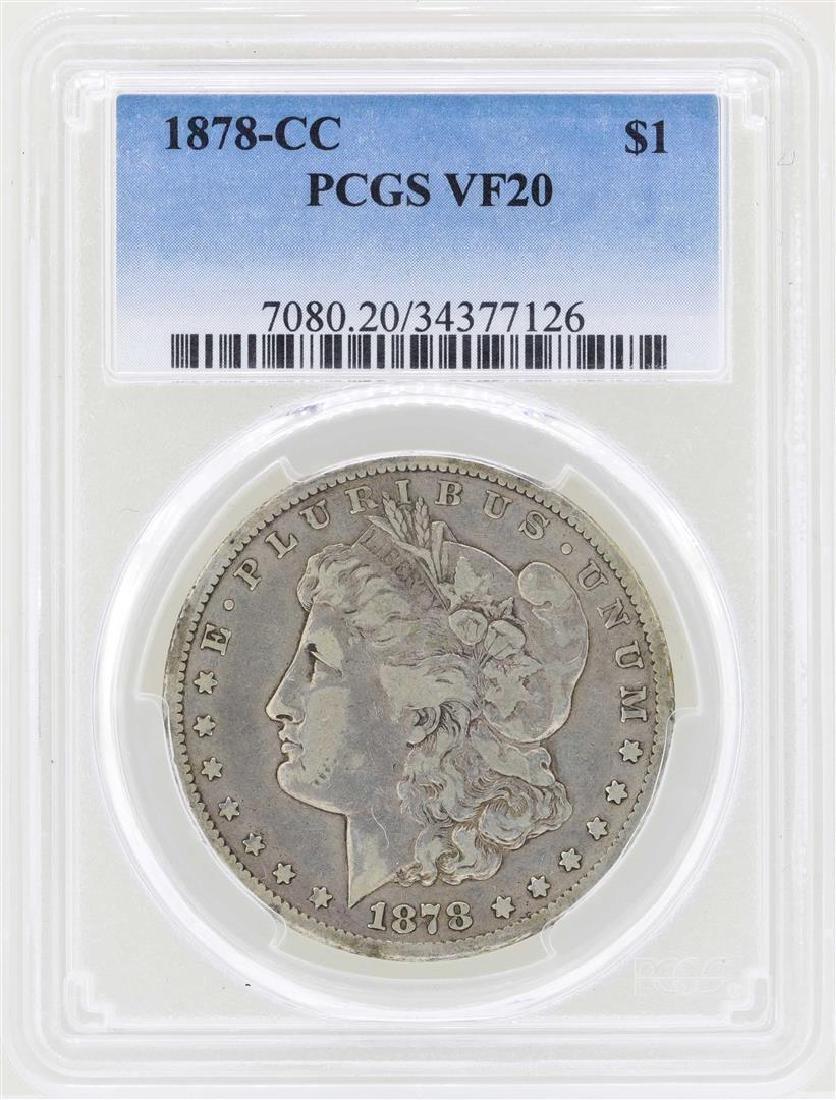 1878-CC $1 Morgan Silver Dollar Coin PCGS VF20