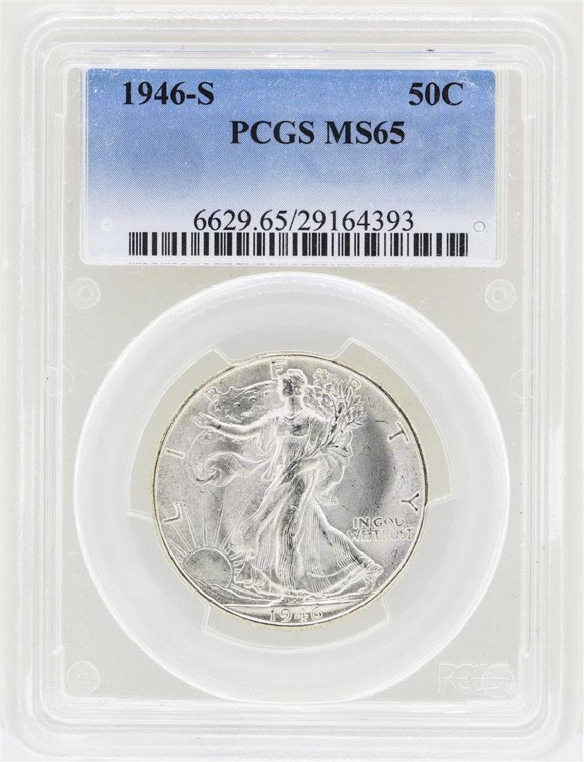 1946-S Walking Liberty Half Dollar Coin PCGS MS65