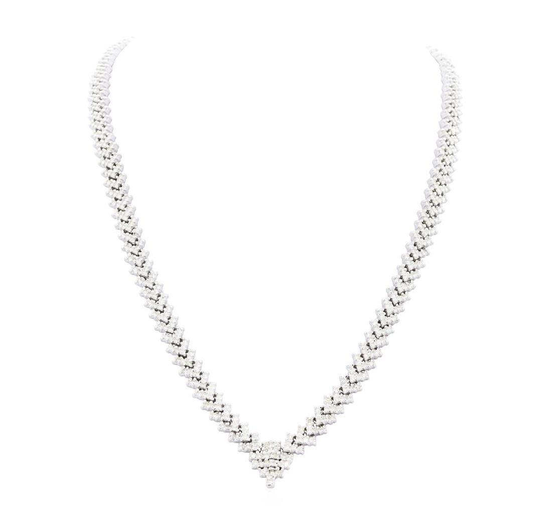 14KT White Gold Ladies 13.00 ctw Diamond Necklace