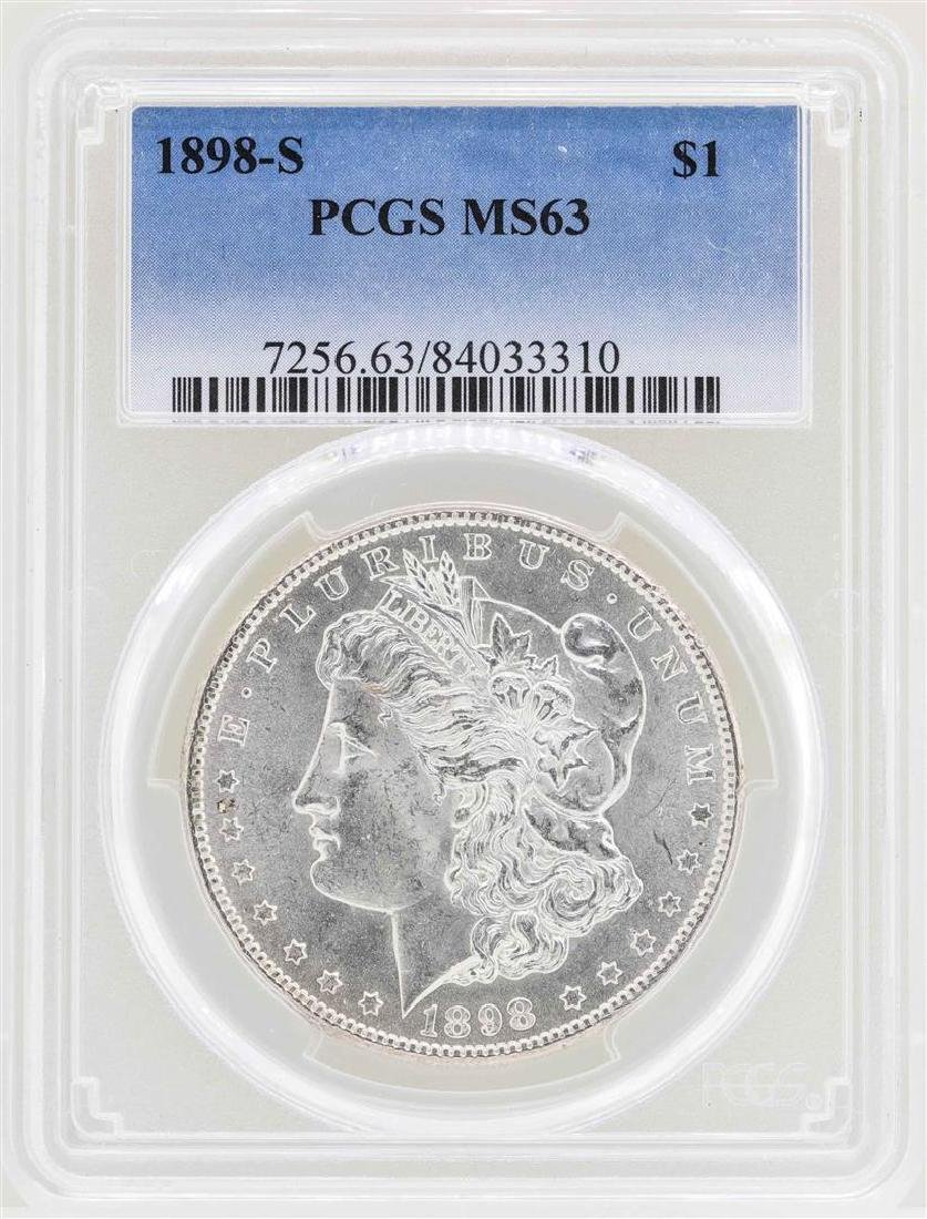 1898-S $1 Morgan Silver Dollar Coin PCGS MS63