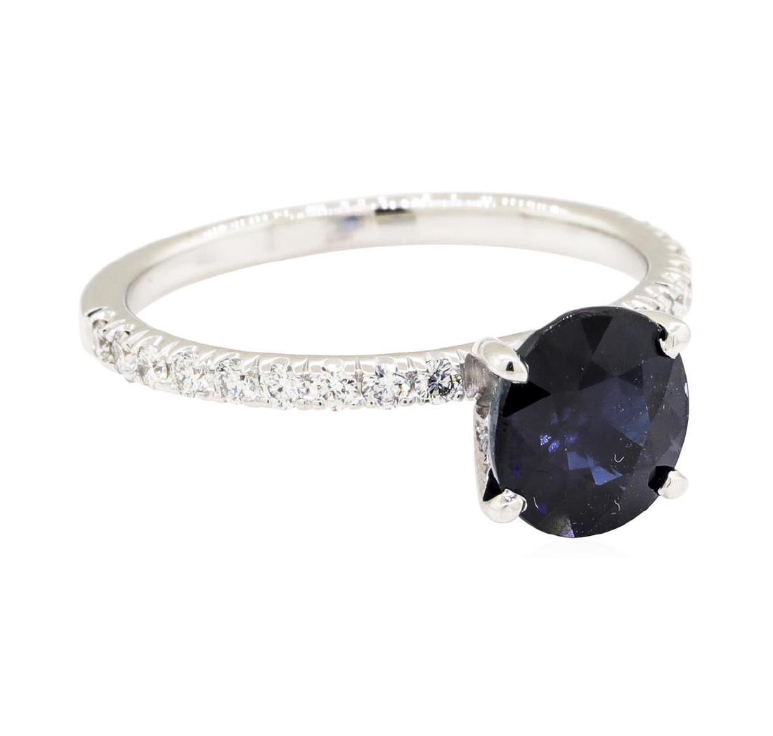14KT White Gold 2.14 ctw Sapphire and Diamond Ring