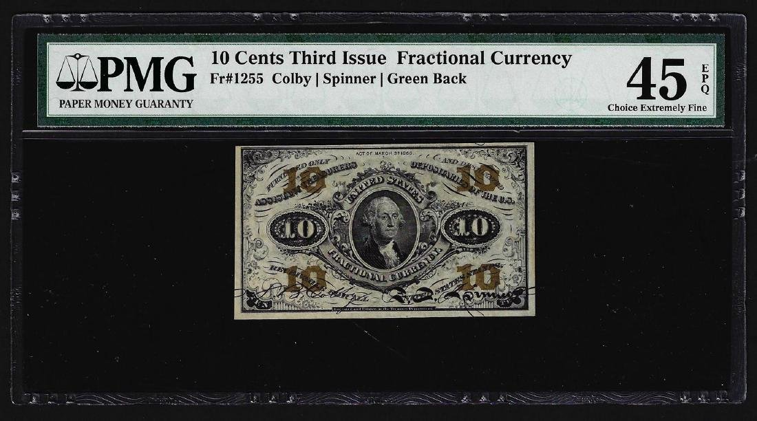 March 3, 1863 Ten Cents Third Issue Fractional Note PMG
