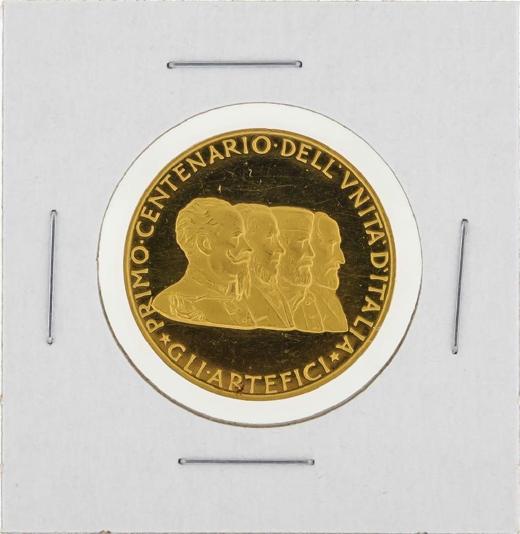 1961 Italy Primo Centenario Dell Vnita Gold Medal